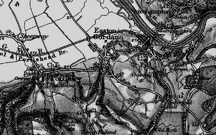 Old map of Easton-in-Gordano in 1898
