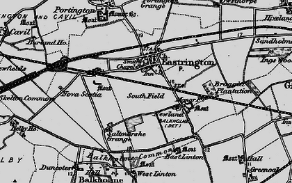 Old map of Balkholme Common in 1895
