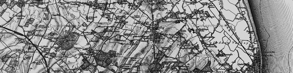 Old map of Eastry in 1895