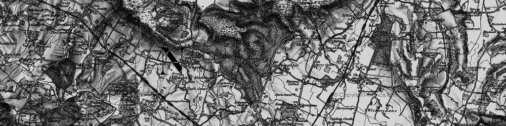 Old map of Eastwell Park in 1895