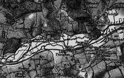 Old map of Eastwick in 1896
