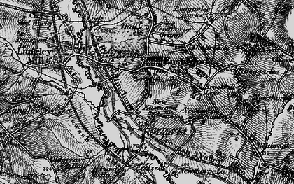 Old map of Eastwood in 1895