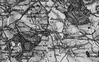 Old map of Eaton in 1897