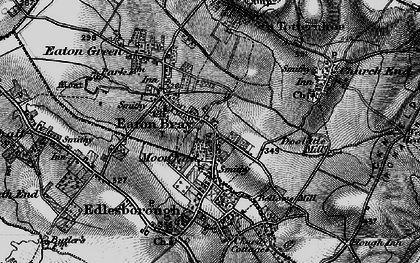 Old map of Eaton Bray in 1896