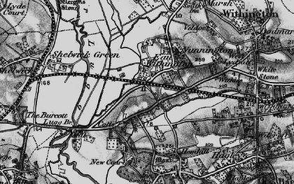 Old map of Withies in 1898