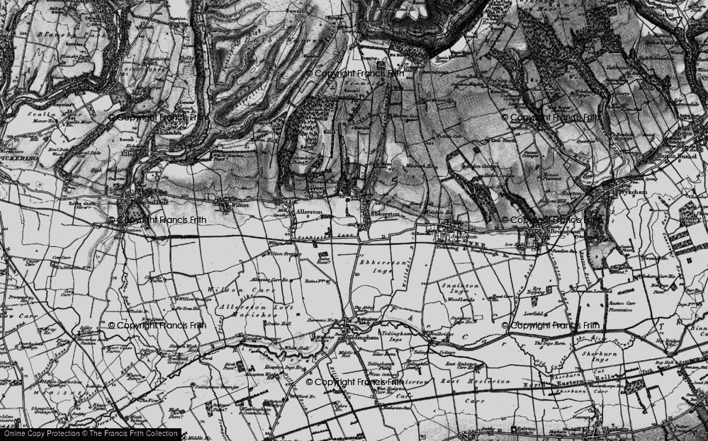 Old Map of Historic Map covering Allerston Partings in 1898