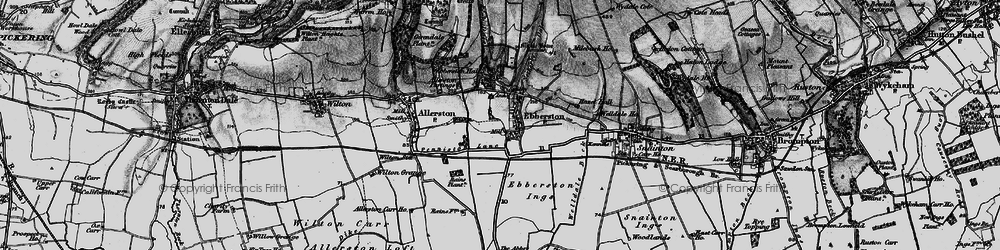 Old map of Allerston Partings in 1898