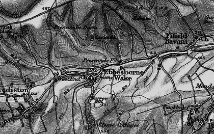 Old map of Ebbesbourne Wake in 1895