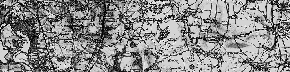 Old map of Wheatley in 1899