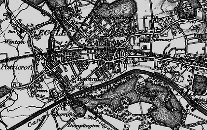 Old map of Eccles in 1896