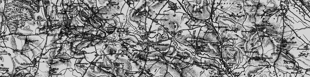 Old map of Eccleshall in 1897