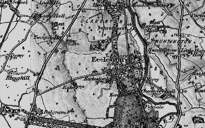 Old map of Eccleston in 1897