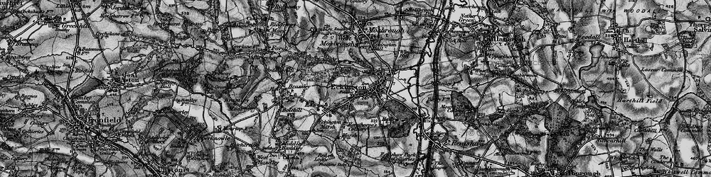 Old map of Eckington in 1896
