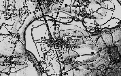 Old map of Eckington in 1898