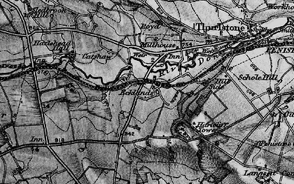 Old map of Ecklands in 1896