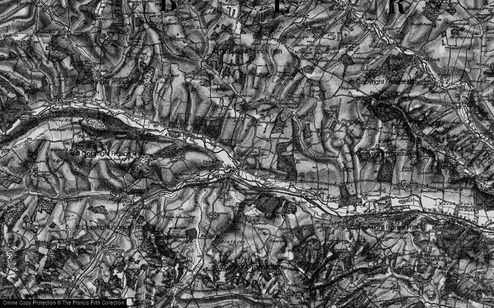 Old Map of Eddington, 1895 in 1895