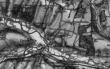 Old map of Eddington in 1895