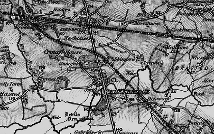 Old map of Edenbridge in 1895