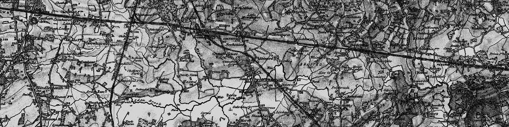 Old map of Edenbridge in 1895