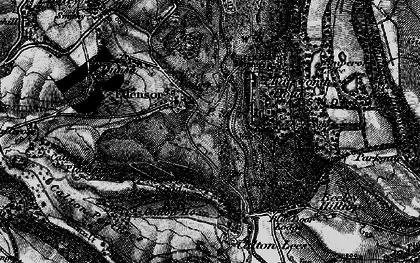 Old map of Edensor in 1896