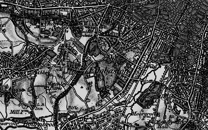 Old map of Edgbaston in 1899