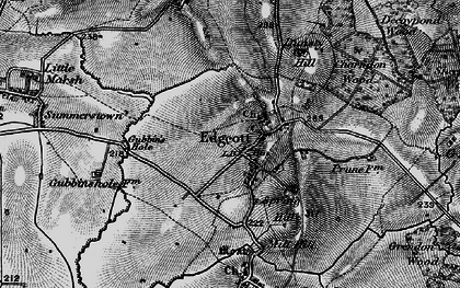 Old map of Edgcott in 1896