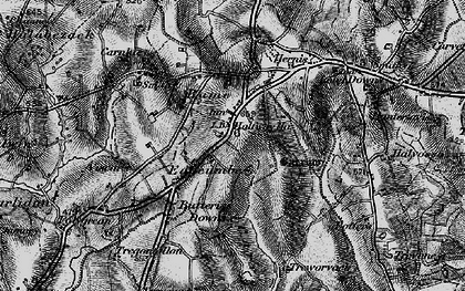 Old map of Edgcumbe in 1895