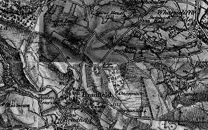 Old map of White Lee Moor in 1896