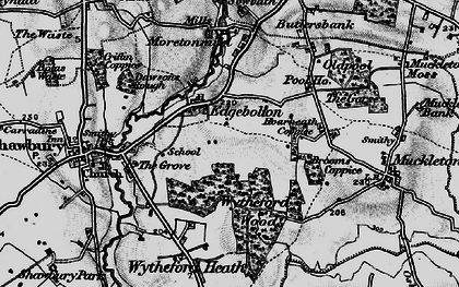 Old map of Wytheford Wood in 1899