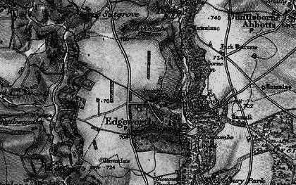 Old map of Ashcombe Bottom in 1896
