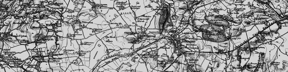 Old map of Edgmond in 1897