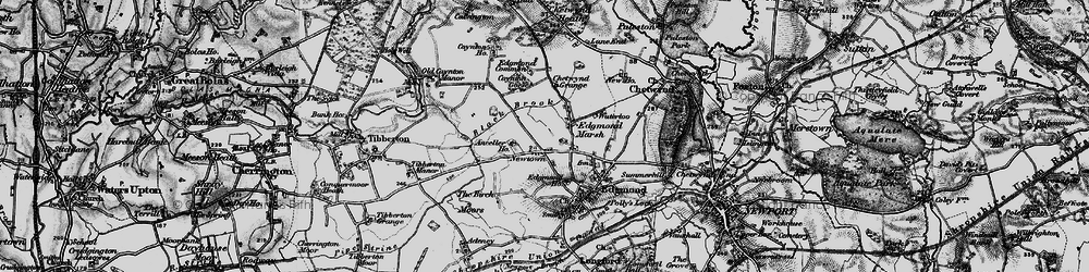 Old map of Anceller Ho in 1897