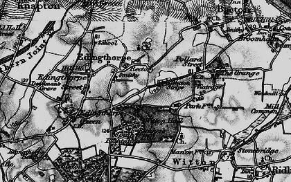 Old map of Witton Hall in 1898