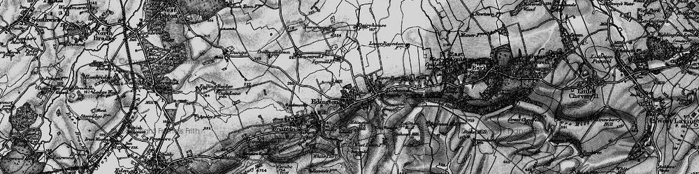 Old map of Edington in 1898
