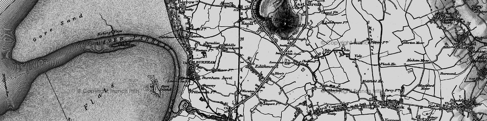 Old map of Worston Ho in 1898