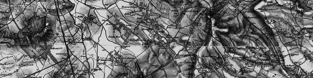Old map of Edlesborough in 1896