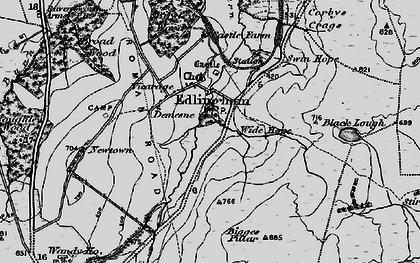 Old map of Edlingham in 1897