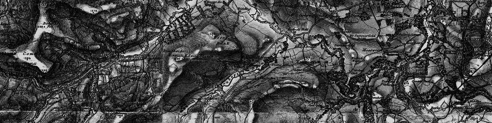 Old map of Edmundbyers in 1898