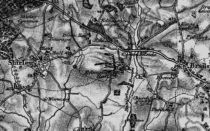 Old map of Alder Carr in 1897
