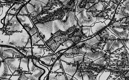 Old map of Austy Wood in 1898