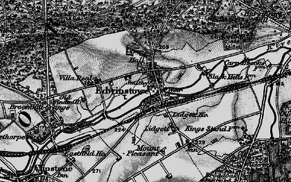 Old map of Edwinstowe in 1899