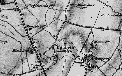 Old map of Edworth in 1896