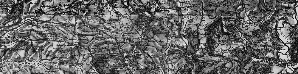 Old map of Winslow Grange in 1899