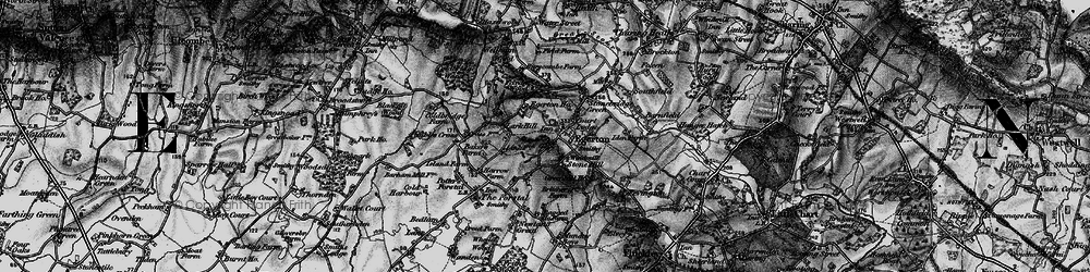 Old map of Egerton in 1895