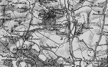 Old map of Eggbeare in 1895