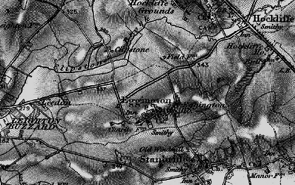 Old map of Eggington in 1896