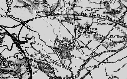 Old map of Egginton in 1897