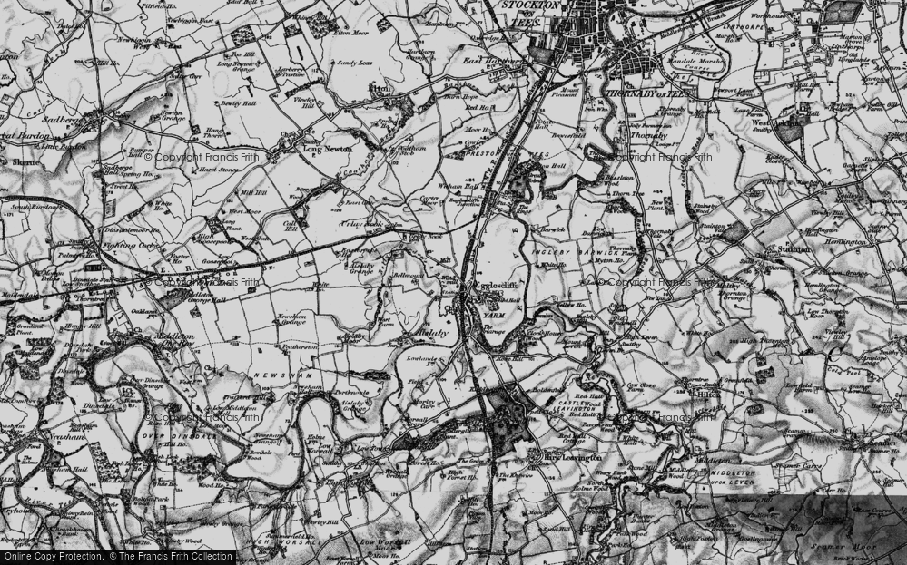 Old Map of Historic Map covering Allens West Sta in 1898