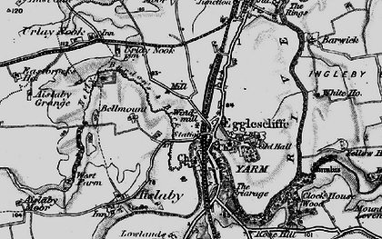 Old map of Egglescliffe in 1898
