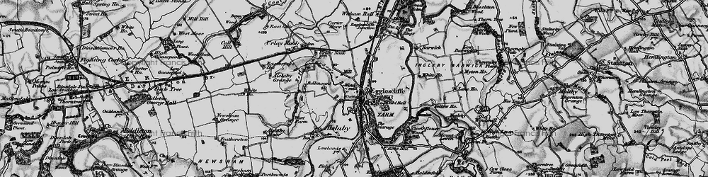 Old map of Allens West Sta in 1898